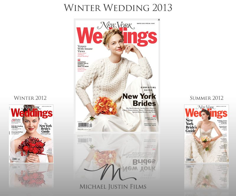 NY Wedding Cinema - Michael Justin Films in NY Magazine Weddings Winter 2013