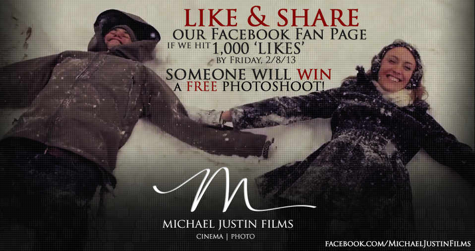 1000 Facebook Likes - Win a Free Photoshoot