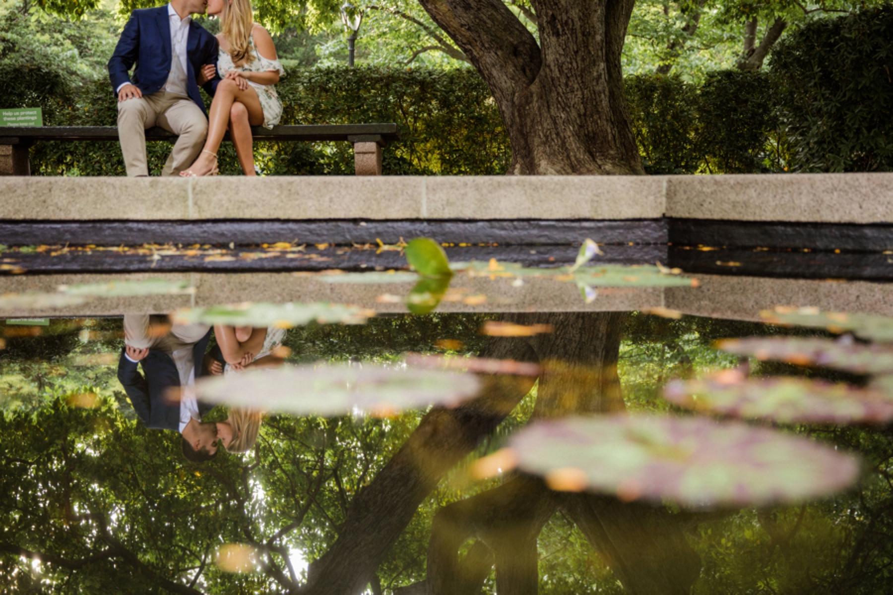 Central Park Conservatory Garden Engagement Photos