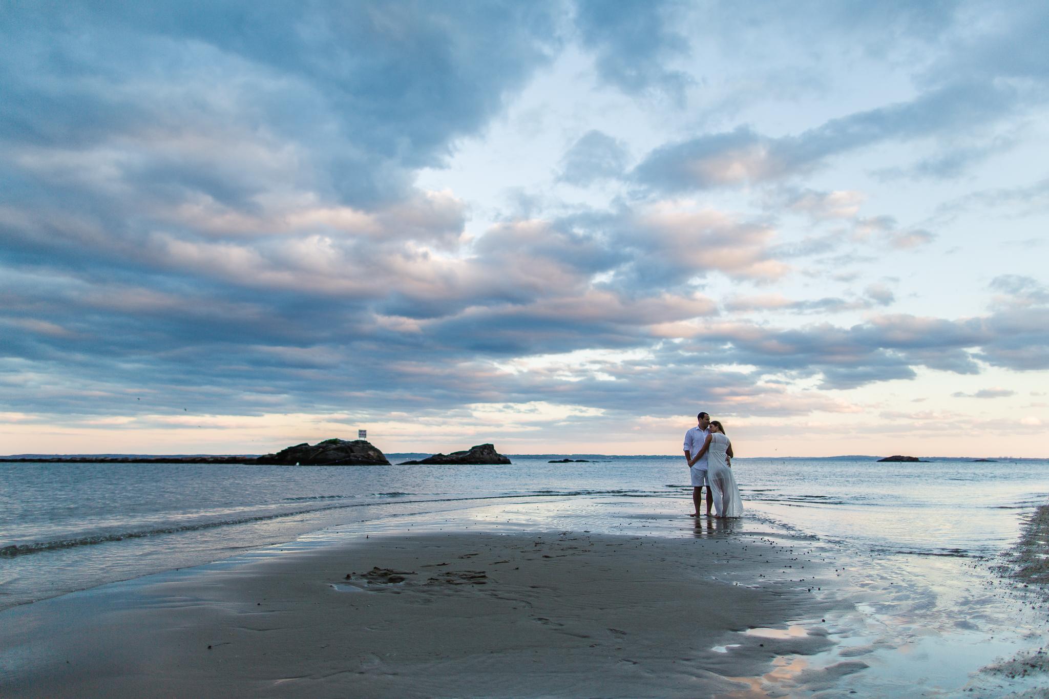 Rye Beach Engagement Session